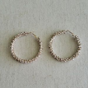 Jewelry - Sparkly Gold Hoops